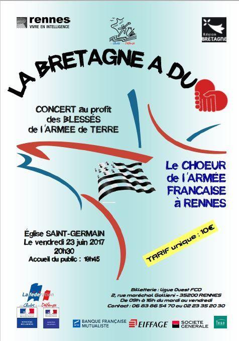 Un concert du chœur de l'armée française au profit des blessés de l'Armée de terre est organisé