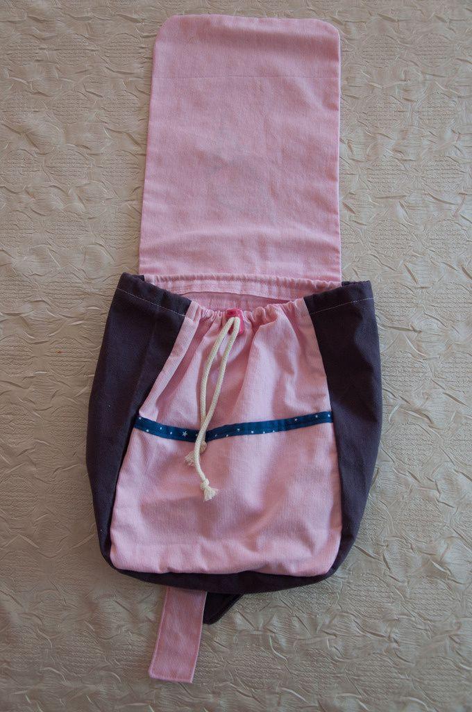 Petit sac à dos &quot&#x3B;lutine dans les étoiles&quot&#x3B;