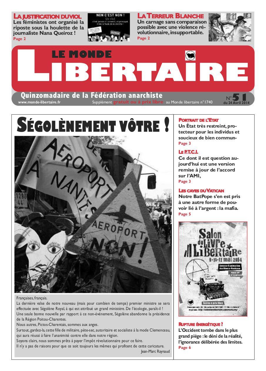 """le Monde libertaire """"gratuit"""" à """"prix libre"""" n° 51"""