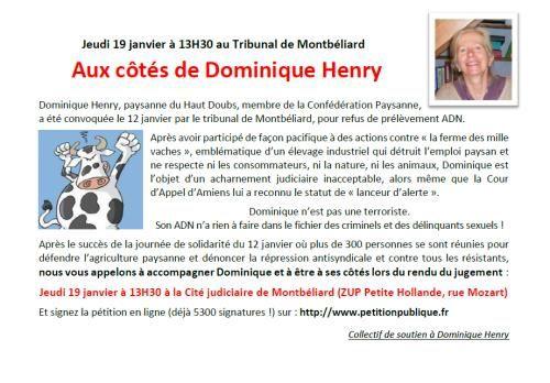 Le comité de soutien de D. Henry