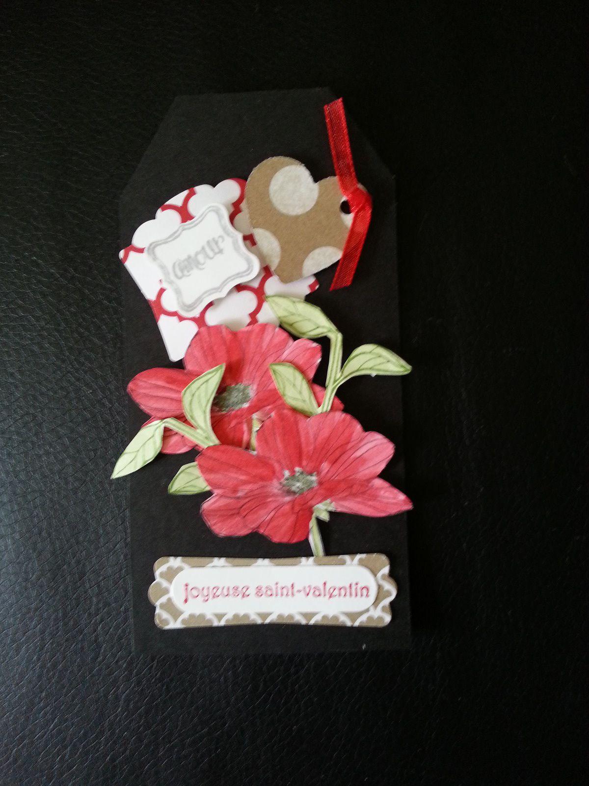 Voici mes trois réalisations tags de la st Valentin.