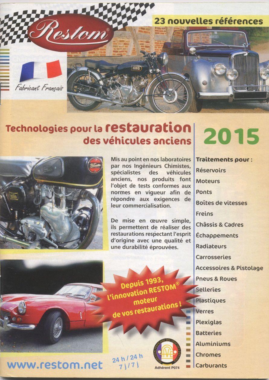 Notre partenaire Restom, nouveau catalogue 2015