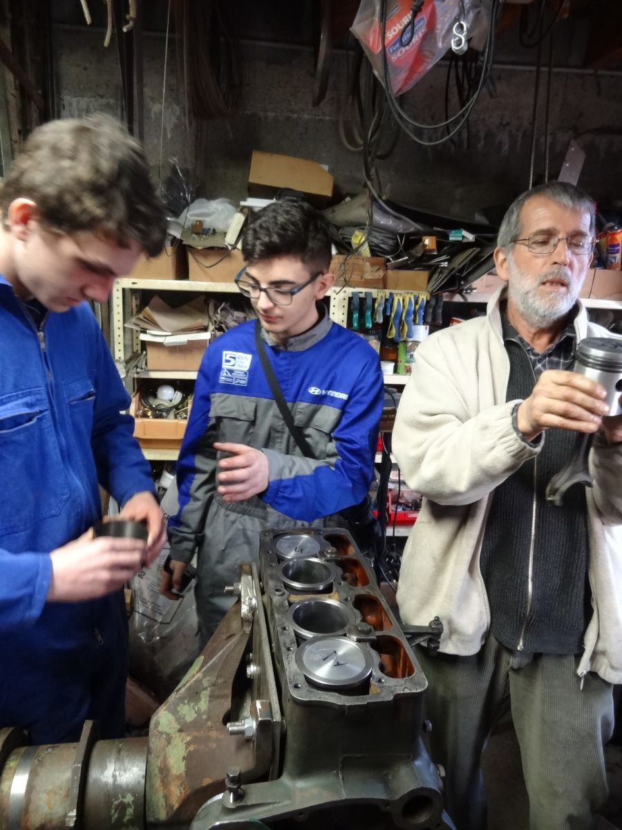 Journée mécanique chez Jean Pierre