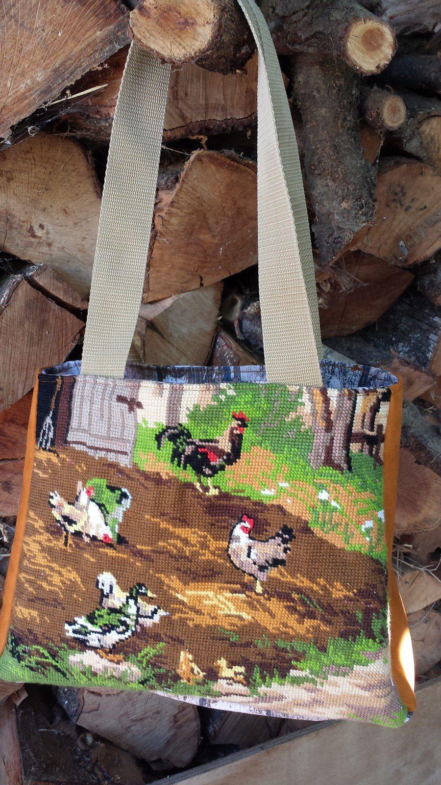 sac canevas vintage ... encore