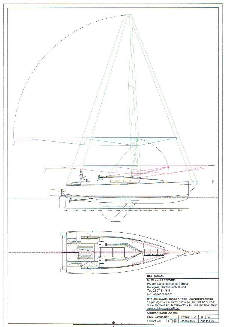 les plans du bateau !