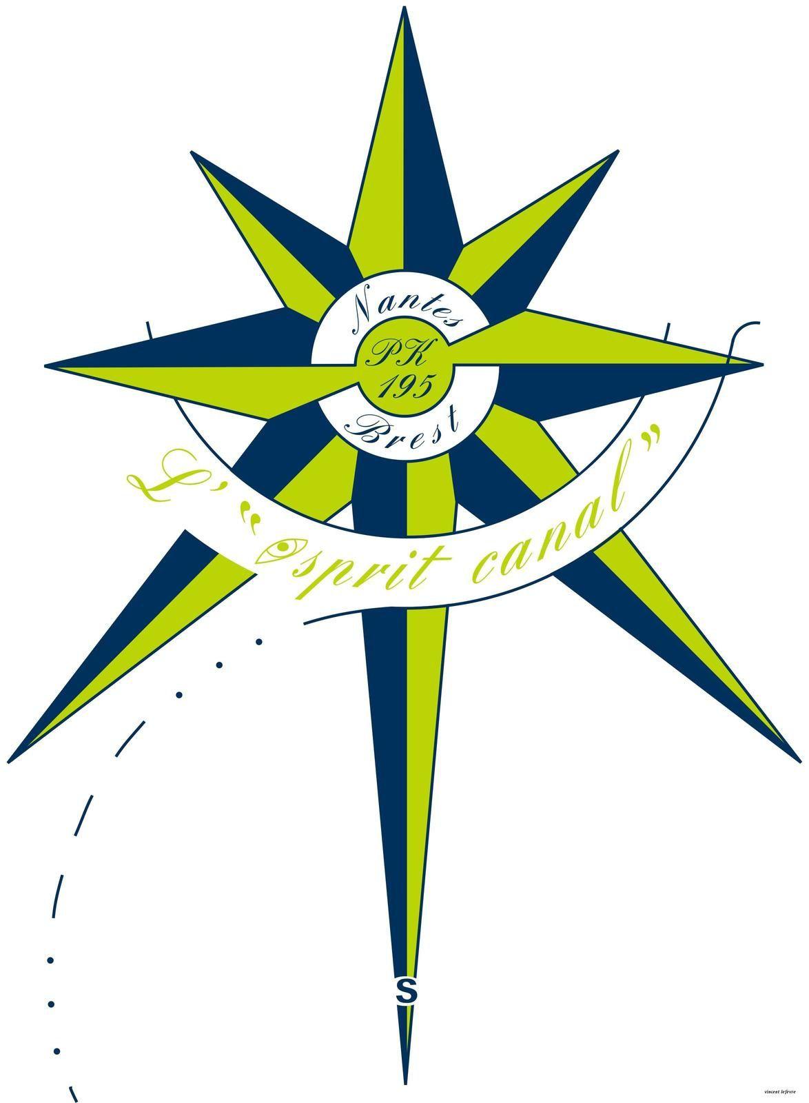 logo de l'esprit canal du Pk 195, sur le canal de Nantes à Brest !