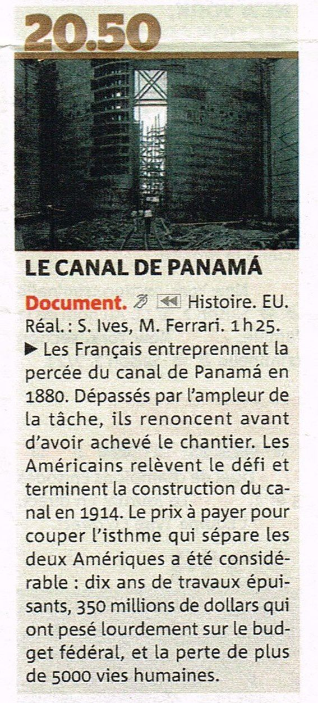 arte et le canal de Panama, un document passionnant !