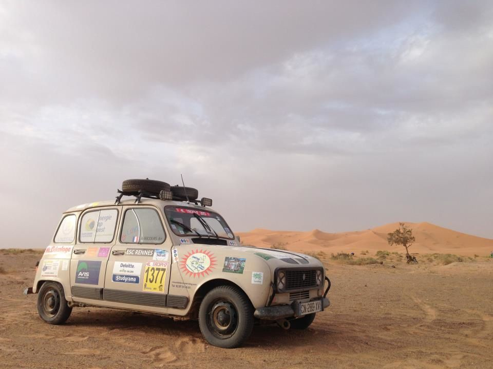 participation au financement voiture 1377 de Loudéac -  4L Trophy 2013 -