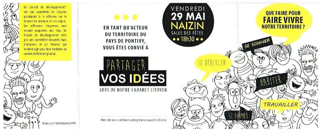 invitation au dernier Cabaret citoyen à Naizin !