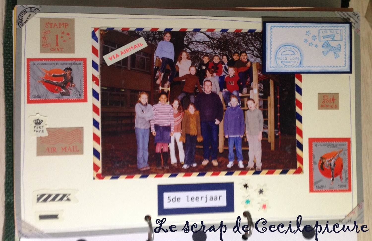 Album scrap photos d'école