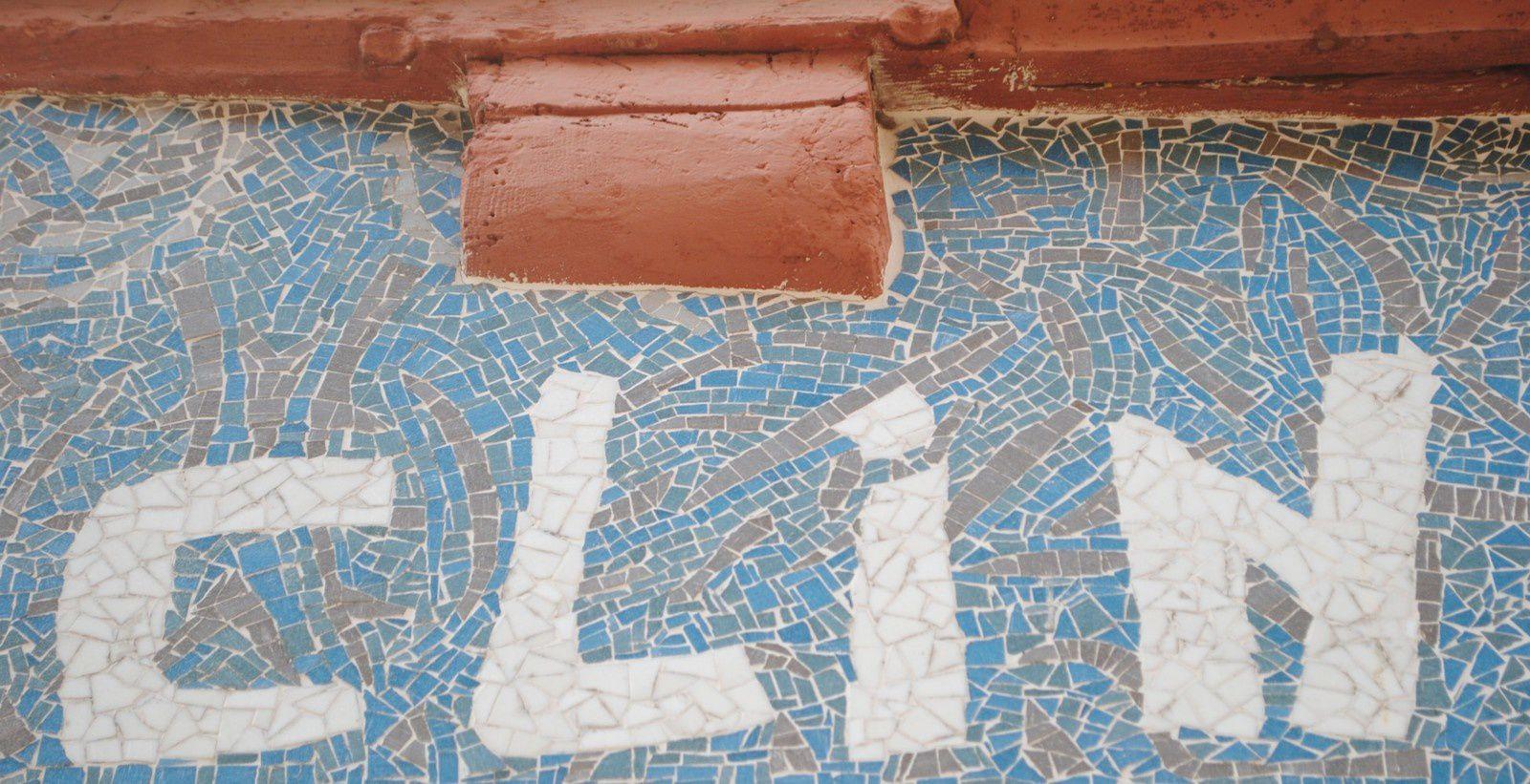 Devanture d'un magasin de Quimper - fragment de la mosaïque