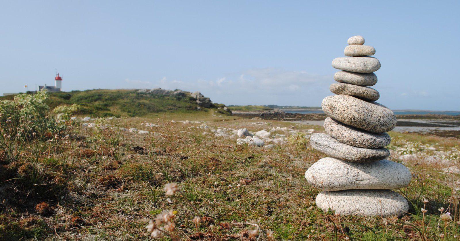 Cairn du phare de l'île Wrac'h  - Pays du Leon -  Plougerneau - Finistère