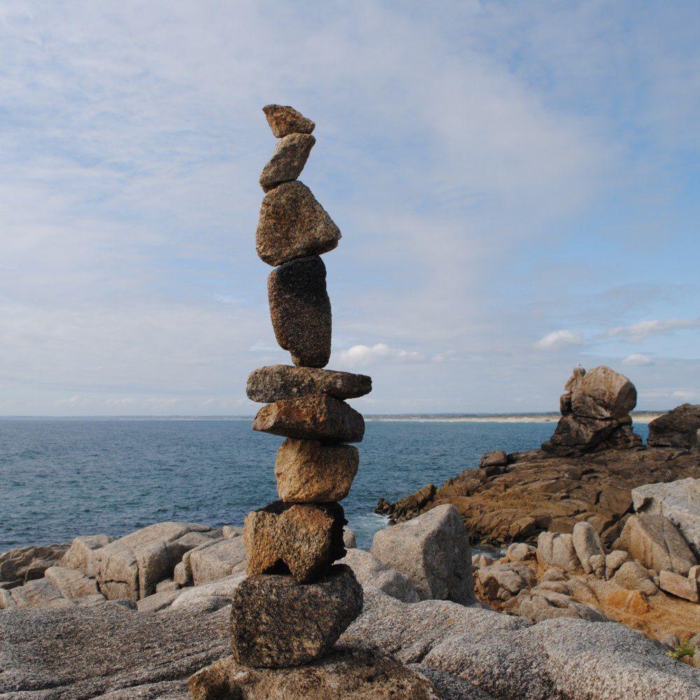 Cairn de la bigoudène - pointe de la Torche - Finistère