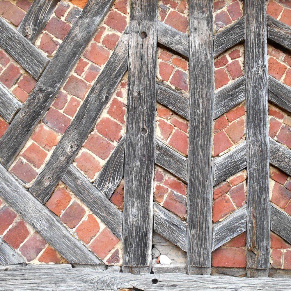 mosaïque de colombage-brique - Manoir d'Ango 002