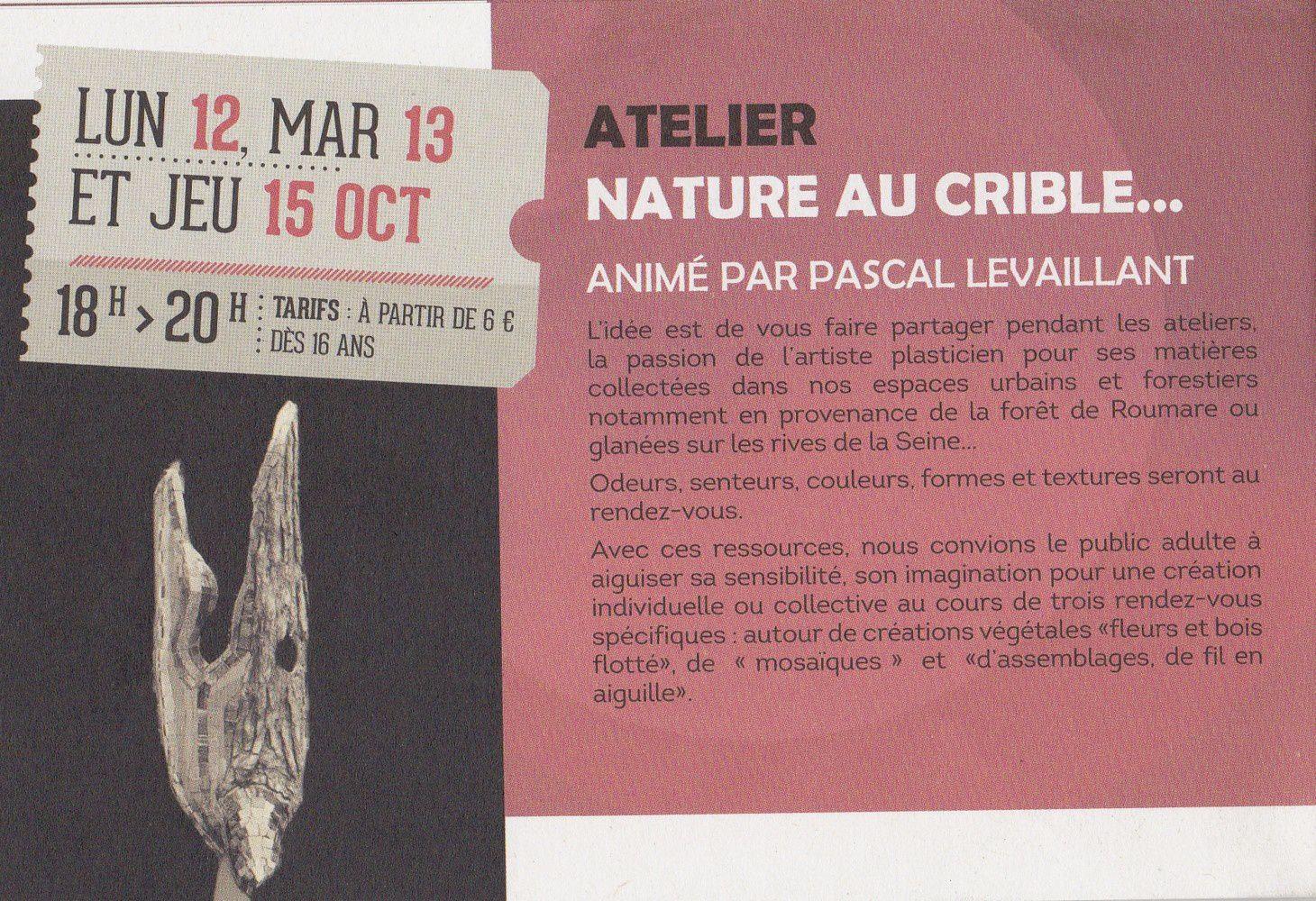 l'atelier Nature au crible -  info éditéé par l'ECFM
