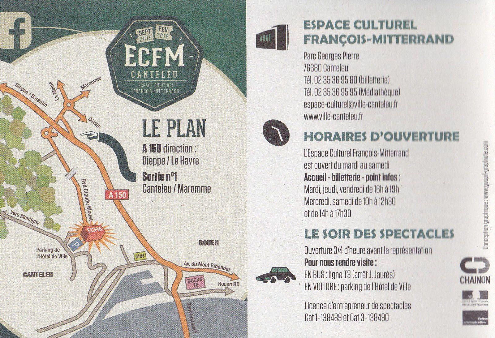 implantation, plan et renseignements édités par l'ECFM