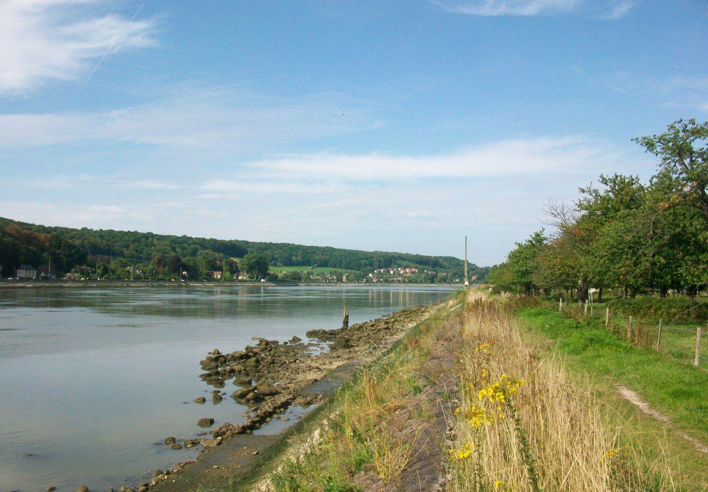 Randonnée pédestre en bord de Seine normande de Poses à l'estuaire -  étape 17 - Anneville-Ambourville [Seine Maritime] 2008-2015