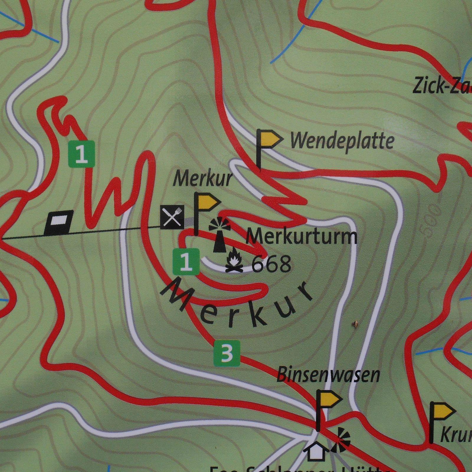 le Merkurturm, 668 m
