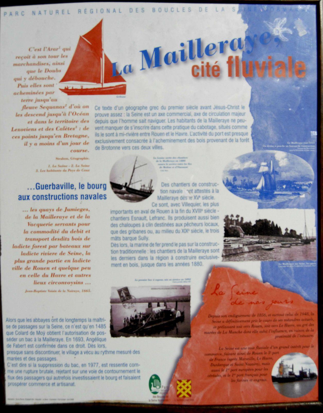 Randonnée pédestre en bord de Seine normande de Poses à l'estuaire - étape 25 - La Mailleraye-sur-Seine - Arelaune-en-Seine - St Nicolas de Bliquetuit - rive gauche - Seine Maritime - 2008-2015