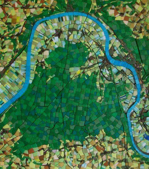 la presqu'île de Brotonne - Plan scénomosaïque de la Seine normande © Pascal Levaillant 2009-2015