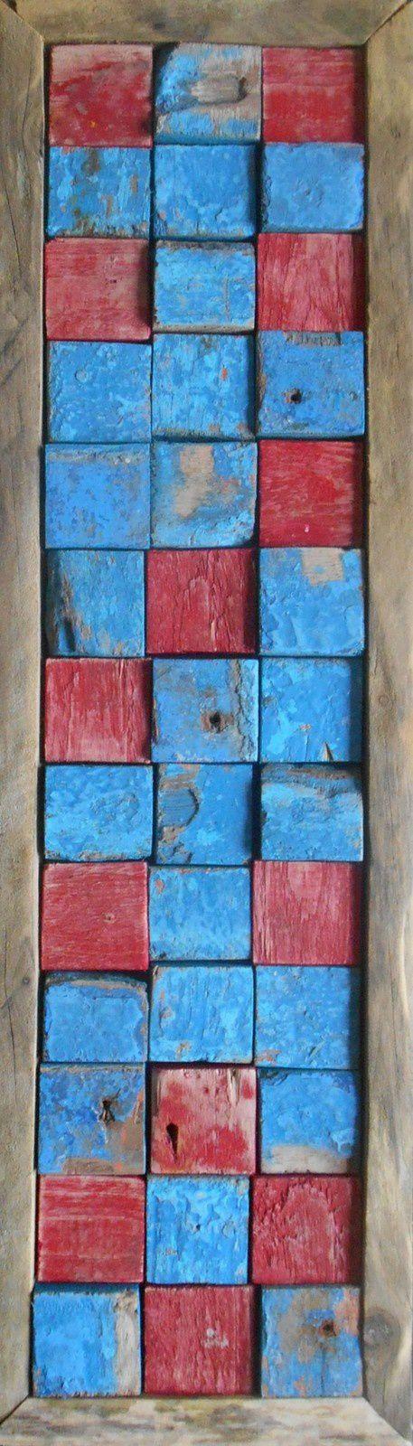 Channel n° 28 – Colonne bicolore – Mosaïque et  Assemblage mixte © Levaillant 2015