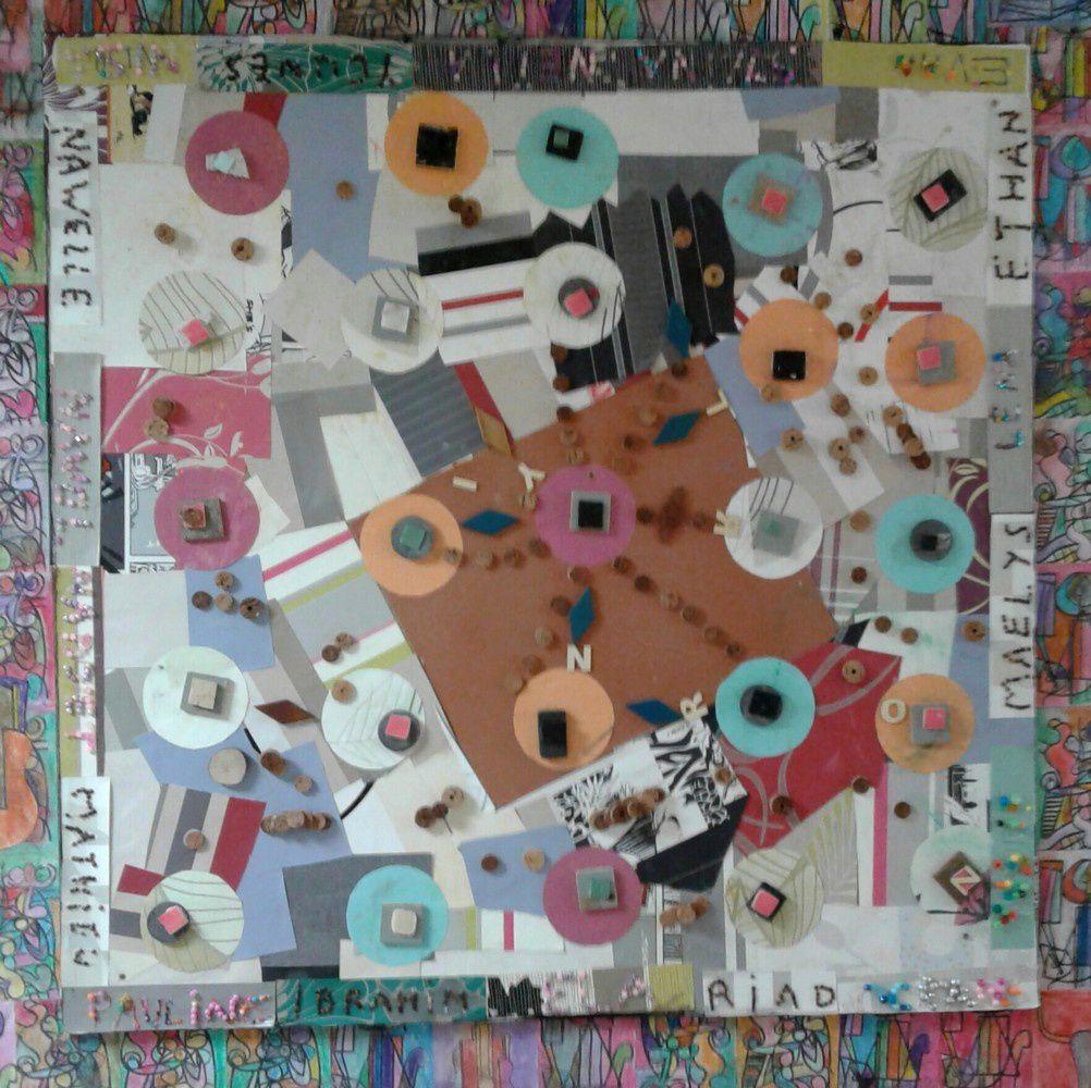 Sans titre - format carré 1 - assemblage - collage