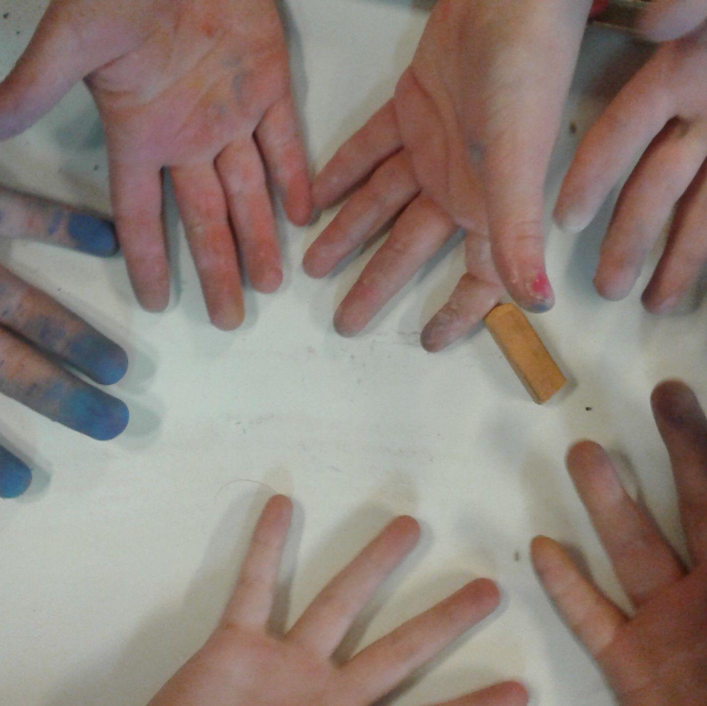 les mains des élèves - 3