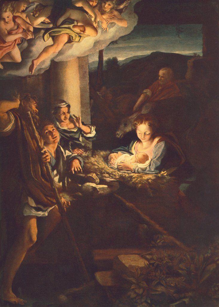L'Adoration des bergers (Le Corrège)