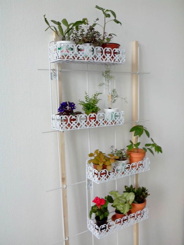 Etag re pour plantes diy plant shelf quilting for Plante dans salle de bain