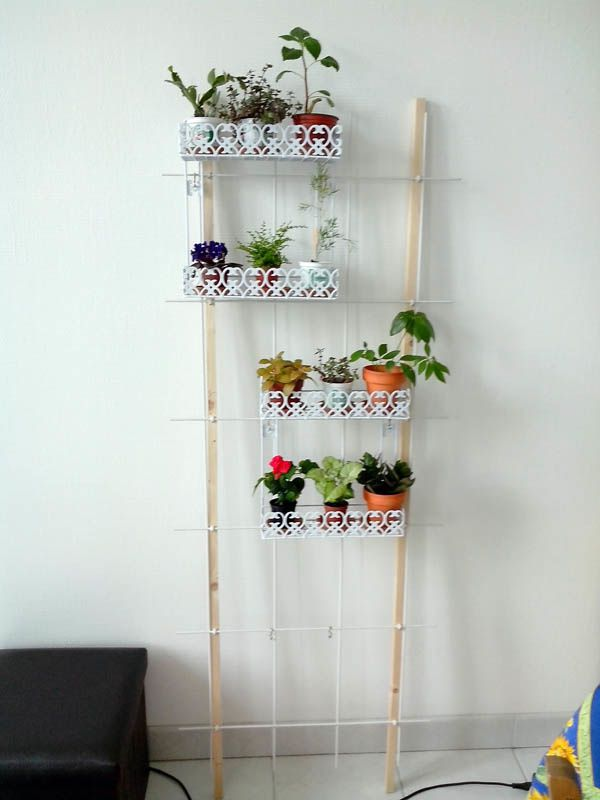 bricolage etagere plantes escabeau accueil design et mobilier. Black Bedroom Furniture Sets. Home Design Ideas