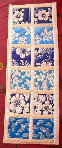 Chemin de table Bleu / Blue Table runner