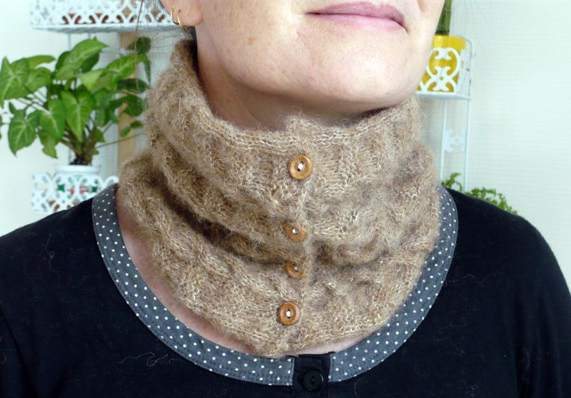Un col tricoté / Knitted Cowl Neck Warmer