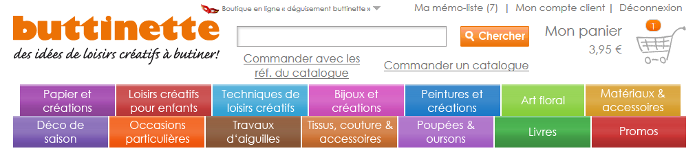 Buttinette : tissus et loisirs créatifs / Shopping for fabric and crafts