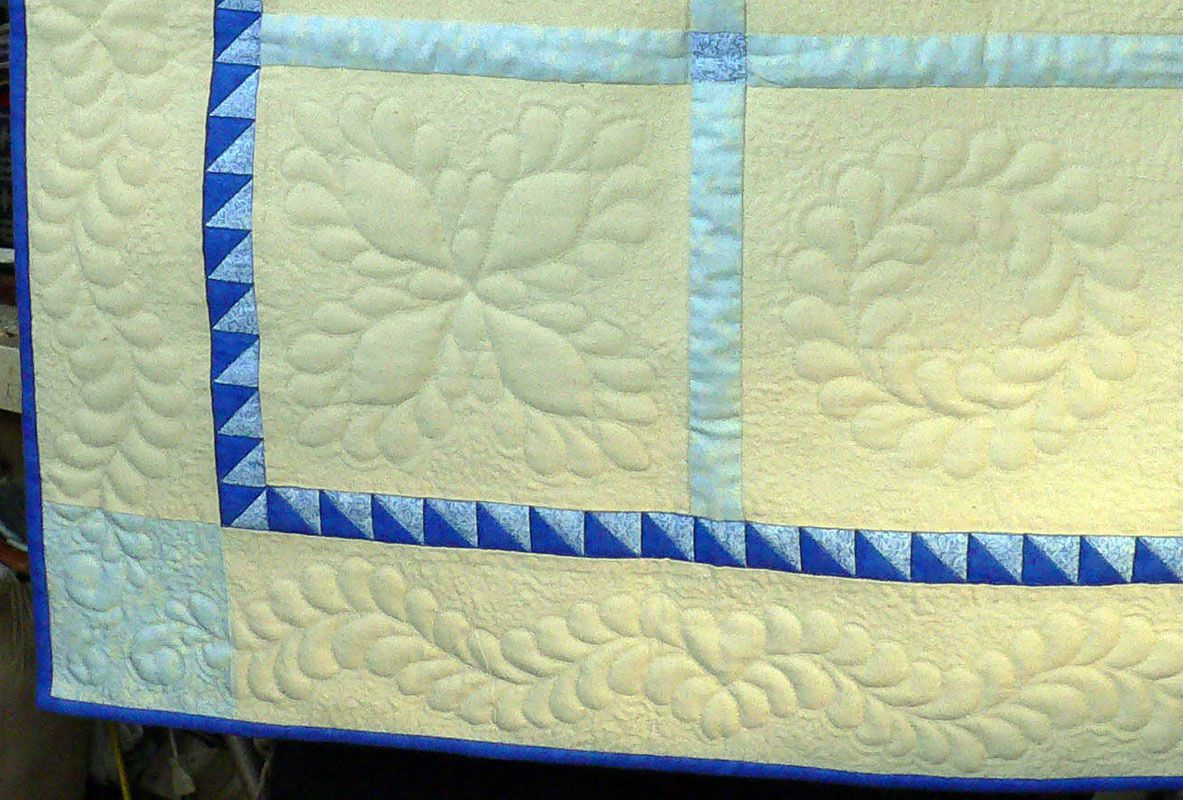 Blogger's Quilt Festival: Feather