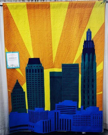Good Morning Tulsa by Tulsa Modern Quilt Guild @tulsamqg - Photo @quiltingmod