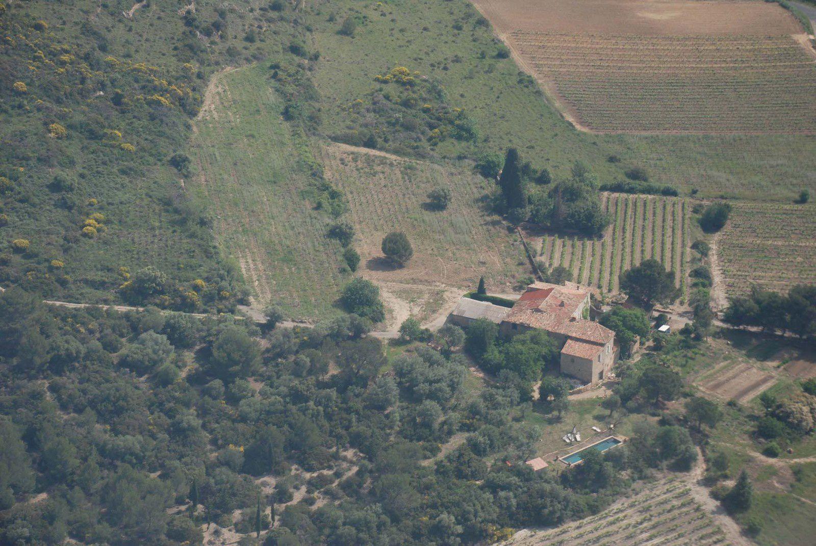 Domaine de Cadablès vue d'avion.