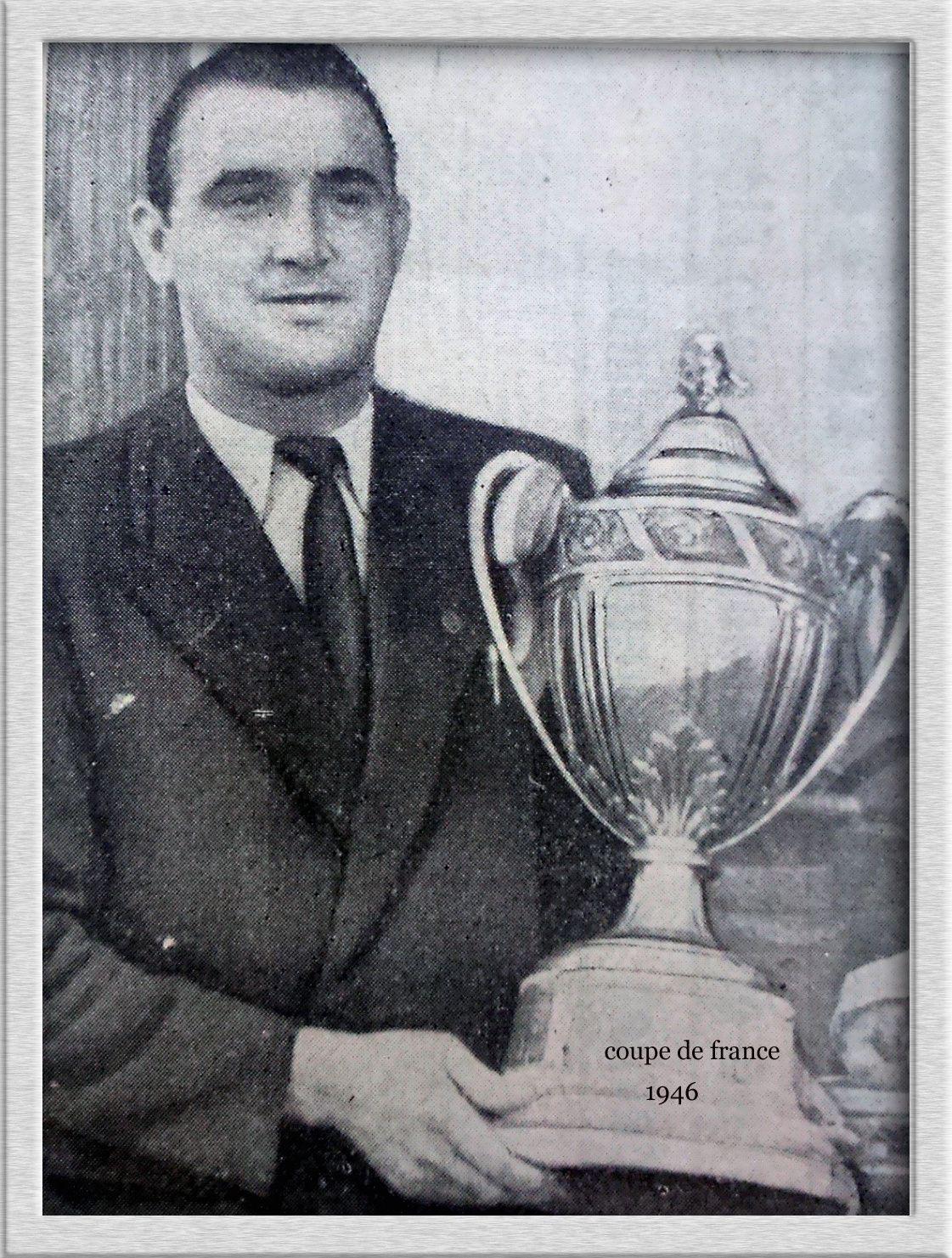 René BIHEL en 1946 Vainqueur de la coupe de France avec Lille.