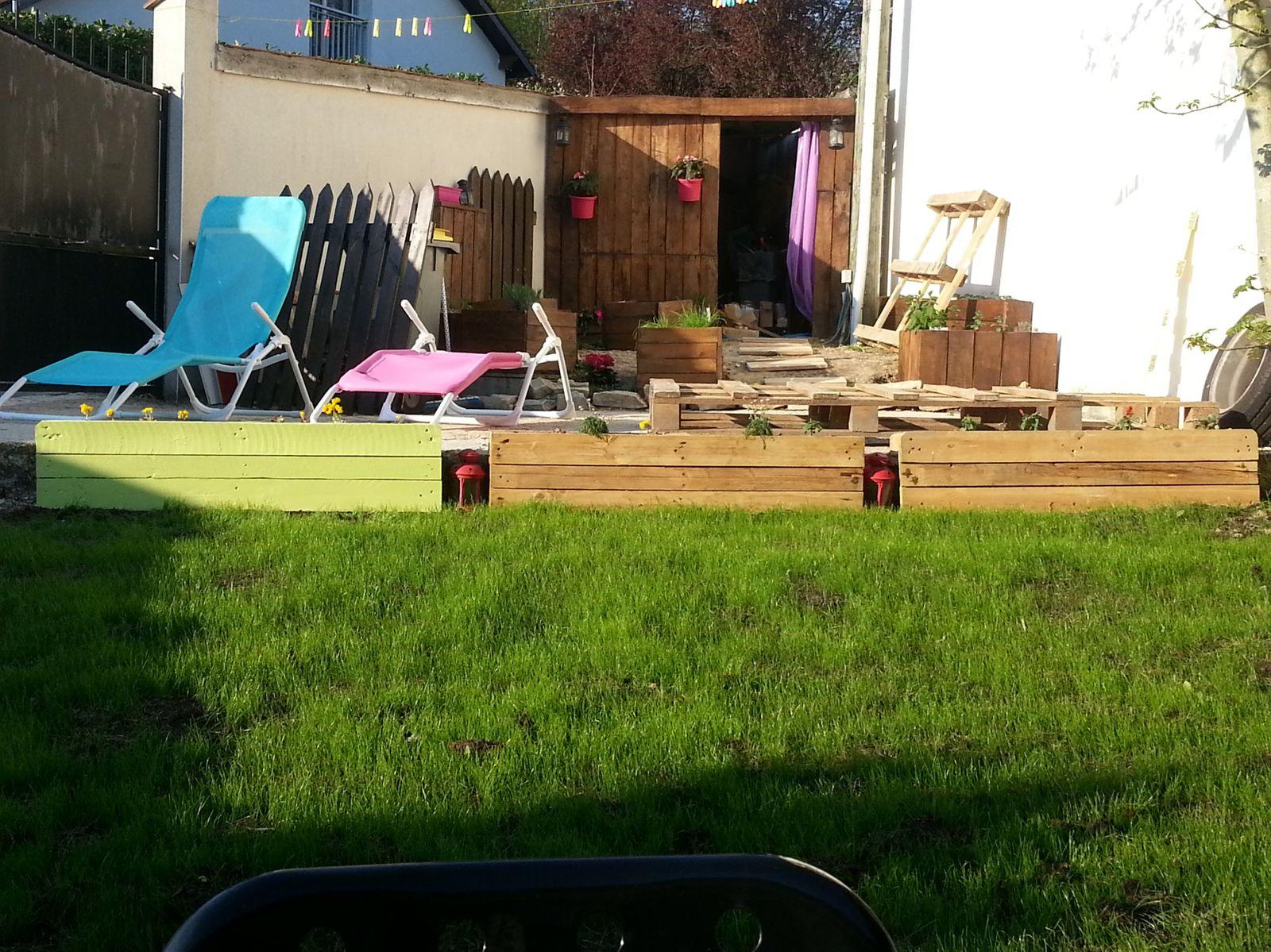 Quelques étapes de la création d'une jardiniére....
