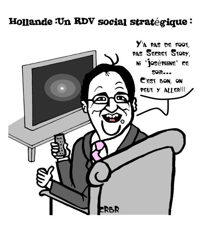 Hollande: Un RDV social stratégique: