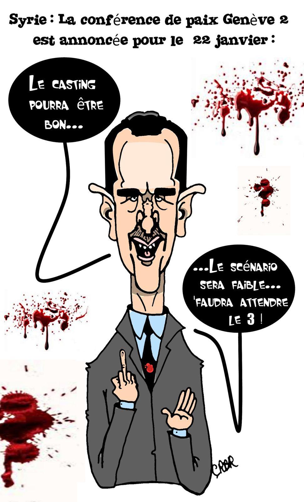 Syrie :La conférence de la paix Genève2 annoncée pour le 22 janvier.