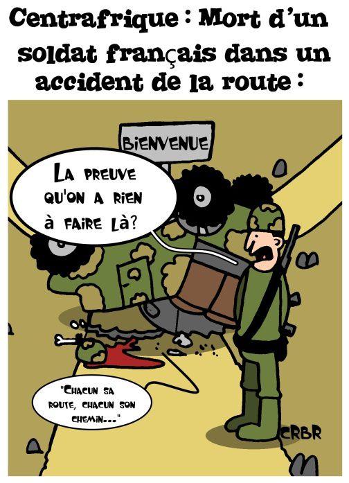 Centrafrique: Mort d'un soldat français dans un accident de la route.