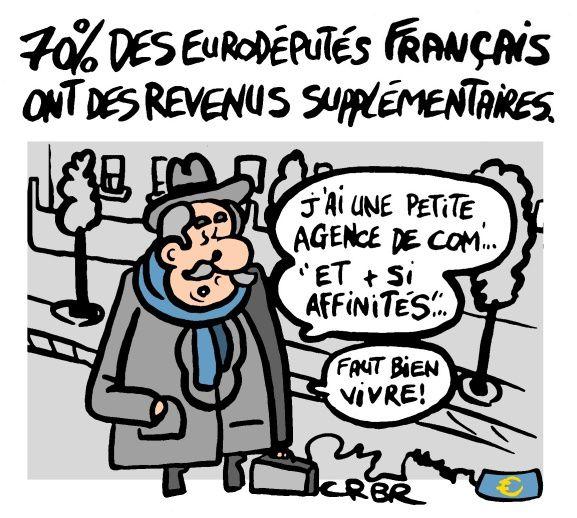 70% des eurodéputés français ont des revenus supplémentaires.