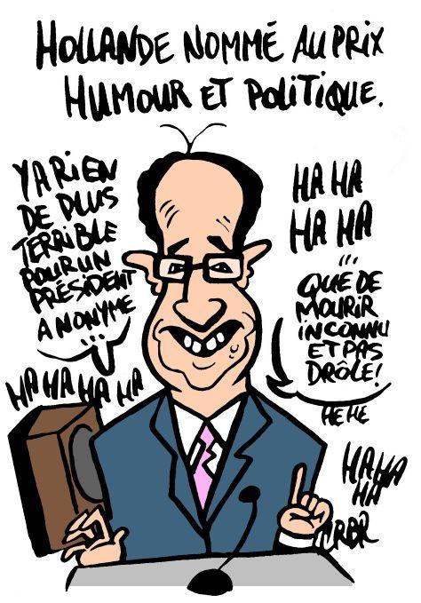 Hollande nommé au Prix Humour et Politique:
