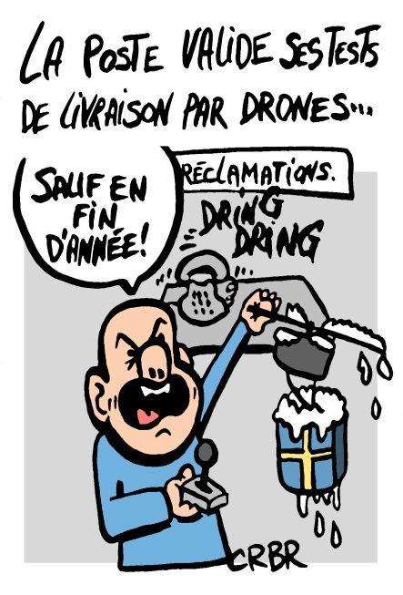 La poste valide ses tests de livraison par drones: