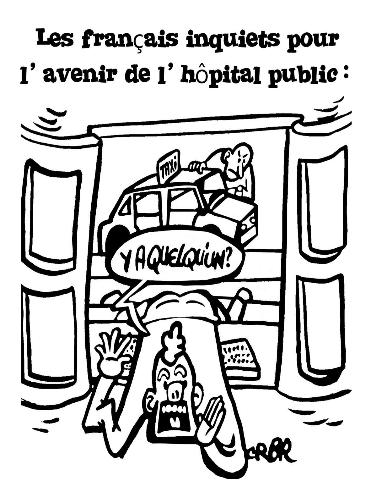 Les français inquiets pour l' avenir de l' hôpital public: