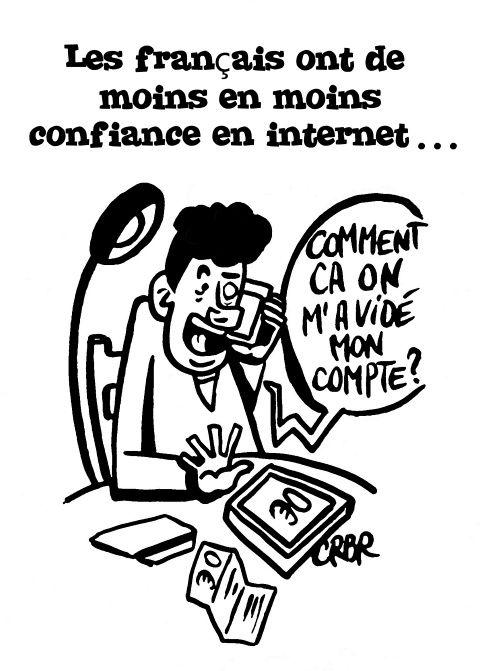Les français ont de moins en moins confiance en internet: