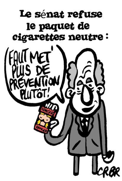 Le Sénat refuse le paquet de cigarettes neutre: