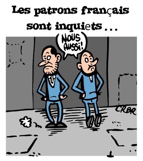 Les patrons français sont inquiets ...