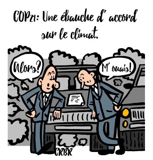 COP 21: Une ébauche d' accord sur le climat.