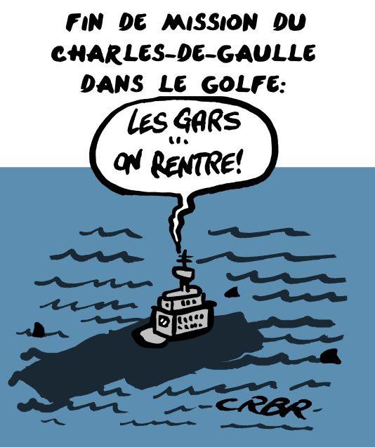 Fin de mission du Charles-de-Gaulle dans le golfe: